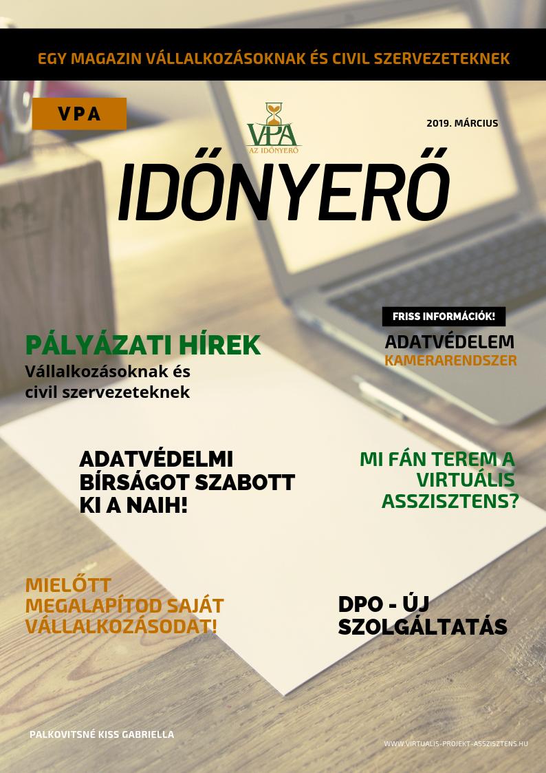 IdőNyerő magazin adatvédelem pályázat